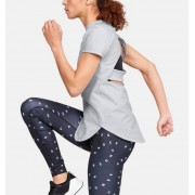 Under Armour Damesshirt UA Breathelux Stretch Open Back met korte mouwen - Womens - Gray - Grootte: Extra Large