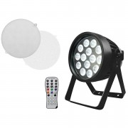 EuroLite LED IP PAR 14x8W QCL Lámpara LED