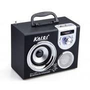 Hordozható hangszóró Bluetooth multimédia lejátszó akkumulátorral Mp3,FM-Rádió, 3,5 jack, USB, Micro SD kártya - KA-13BT