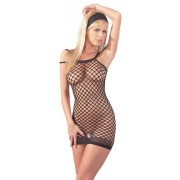 Mandy Mystery Fisnet Dress with Several Straps - Small-Large