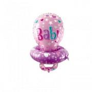Balon folie suzeta roz 92cm