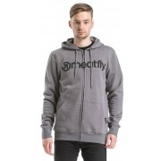 Meatfly Sweatshirt Form Hood și anume B - Heather beton L