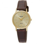 Seiko Analog Beige Dial Womens Watch - SUP302P1
