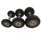 Gantera Dayu Fitness DY-DB-198, 2.5kg (Negru)