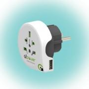 "Utazóadapter ""World to Europe USB"" Q2"