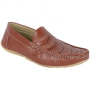 Austrich Tan Synthetic Leather Loafers For Mens