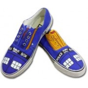 F-Gali The Doctor Who Low Top Canvas Shoes Canvas Shoes For Women(Multicolor)