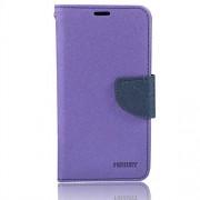 Mercury synthetic leather Wallet Magnet Design Flip Case Cover for Nokia Microsoft Lumia 535 - Purple Black