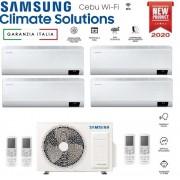 Samsung Climatizzatore Condizionatore Samsung Inverter Quadri Split Cebu Wi-Fi 7000+7000+9000+9000 Con Aj080txj R-32 Classe A++ Wifi - New 2020 7+7+9+9