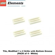 Parts - Tiles Lego Parts: Tile Modified 1 x 2 Grille with Bottom Groove