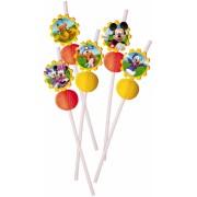 Disney Mickey Egér parti szívószál - 6 darabos