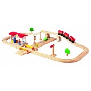 PlanToys Road & Rail Deluxe Play Set