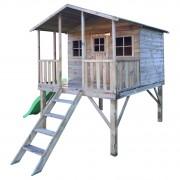 Drevený záhradný domček pre deti GREGORY + šmýkalka