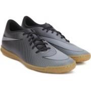 Nike BRAVATAX II IC Football Shoes(Black, Grey)