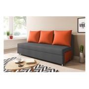 Expedo + Canapea tapițată LISA, gri+portocaliu (alova 48/alova 50)