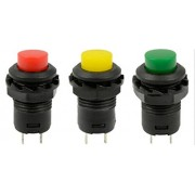 AST Works Pop 5Pcs 12mm Colorful Locking Latching Off- ON Push Button Car/Boat Switchevt