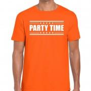 Bellatio Decorations Party time t-shirt oranje heren