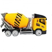 Emob Cement Mixer Truck Construction Moving Toy Vehicle with Incredible Finishing (Multicolor)