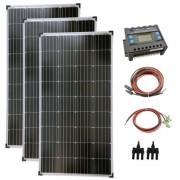 Napelem rendszer 3x130W komplett szett + 1500 wattos szinuszos inverter