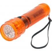 Geen Oranje zaklamp met 14 LED lampjes 14 cm