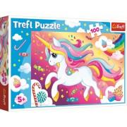Puzzle clasic pentru copii - Frumosul Unicorn 100 piese