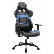 Gamestoel met kantelfunctie en verstelbare armleuningen (zwart/blauw)