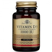 Solgar Vitamin D3 Cholecalciferol 1000 IU Tablets 180 Count