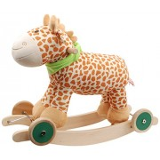 Linzy Plush Giraffe Rocker Collection with Nursery Rhymes Sound Rocking Animal, Multi, 23.5""