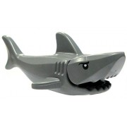 """LEGO Parts - Shark """"Great White"""". Dark grey with gills and printed eyes."""