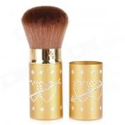 Maquillaje Brocha retractil giratorio Loose Powder Blush - Golden Brown +