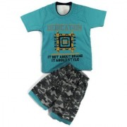 Kids Clothes Boys Turquoise Military Style