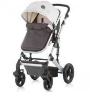 Комбинирана бебешка количка с трансформираща седалка Chipolino Тера, крем, 3500247