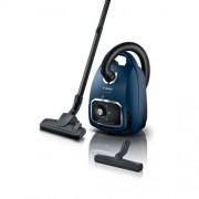 GARANTIE 2 ANI Aspirator Bosch, cu sac, Serie 6 cu sistemul PowerProtect pentru performante de curatare de lunga durata; Remote Power Control: setarea puterii de aspirare direct de pe maner; putere motor 600 W, albastru BGB6X300