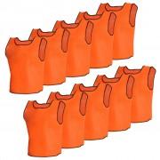 vidaXL 10 db Narancsszínű Sport Vállpántos Felső Gyerekeknek