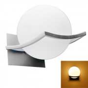 Lampara de la bola Jiawen E27 5W LED de pared de luz blanca caliente 400lm 10-SMD - Blanco