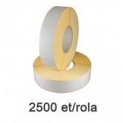 Role de etichete semilucioase 30x60mm, 2500 et./rola