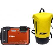 Nikon Coolpix W300 - Oranje + Waterbestendige rugtas