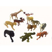 (Angel Impex) The Animal Kingdom With wild Animals, Set of 10 Pcs