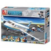 Set de constructie Sluban – Avion de pasageri , 463
