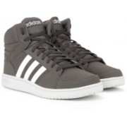 ADIDAS NEO VS HOOPS MID Mid Ankle Sneakers For Men(Grey, White)