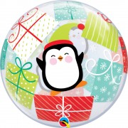 "Balon Bubble 22""/56cm Qualatex, Pinguin & Cadouri, 43438"