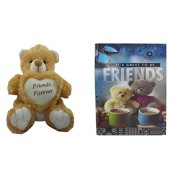 Teddy bear soft toy friend & Card dear friends for sister /brother/women/kids /36cm by unique indian craft