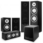 Auna Black Line, черна, 5.1 система за домашно кино, комплект високоговорители (PL-966-962-958-970)