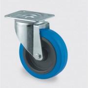 TENTE Transportní kolo s modrým běhounem, 100 mm, otočné