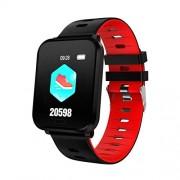 DishyKooker Reloj Deportivo con Monitor de presión Arterial y Resistente al Agua Rojo YWQ-20191021-USCE-E488B7158E