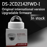In stock free shipping english version DS-2CD2142FWD-I 4MP mini dome network cctv camera