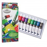 Reeves Acrylic Paint Set - 12 x 10ml tubes of Reeves highly pigmented water-based acrylic paint. Flexible and water-resistant when dry.