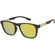 Arzonai Marico Wayfarer Black-Orange UV Protection Sunglasses For Men & Women |MA-501-S5|