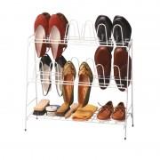 Organizator 12 perechi pantofi, metalic