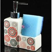 Dozator detergent cu spatiu pentru burete in diferite culori